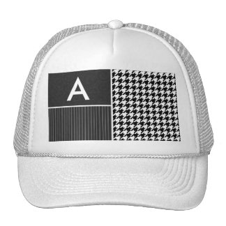 Black & White Houndstooth Hats