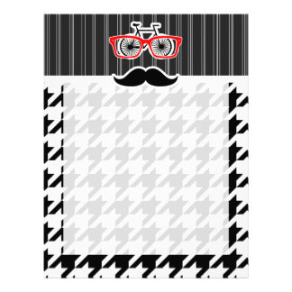 Black & White Houndstooth; Hipster Personalized Letterhead