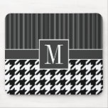 Black & White Houndstooth Mousepads