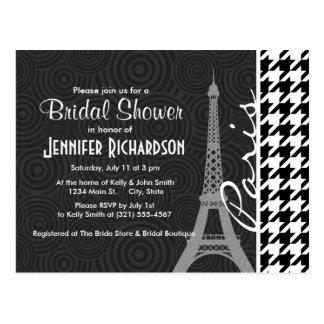 Black & White Houndstooth; Paris Postcard