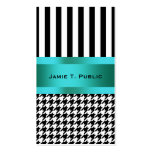 Black & White Houndstooth Pattern Double-Sided Standard Business Cards (Pack Of 100)