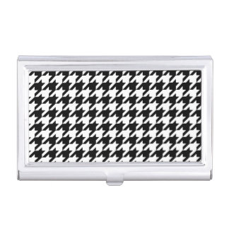 Black & White Houndstooth Pattern Business Card Case