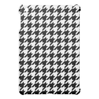 Black & White Houndstooth Pattern Case For The iPad Mini