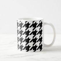 Black & White Houndstooth Pattern Coffee Mug