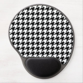 Black & White Houndstooth Pattern Gel Mouse Pad