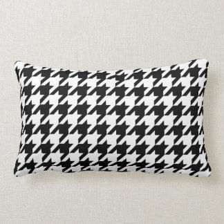 Black & White Houndstooth Pattern Lumbar Pillow