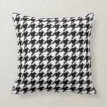 Black & White Houndstooth Pattern Throw Pillows
