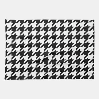 Black & White Houndstooth Pattern Towels