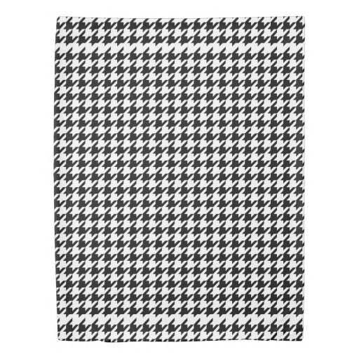 Black White Houndstooth Pattern Twin Duvet Cover Zazzle