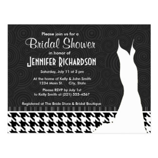 Black & White Houndstooth Postcard