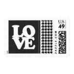 Black & White Houndstooth Stamp