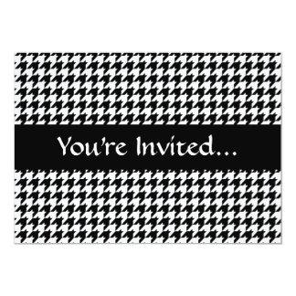 Black/White Houndstooth Stylish Fashion Designer Card