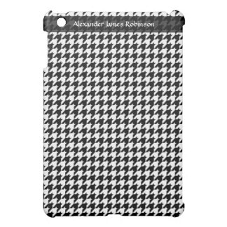 Black/White Houndstooth Stylish Fashion Designer Cover For The iPad Mini
