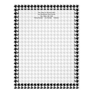 Black/White Houndstooth Stylish Fashion Designer Letterhead