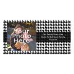 Black/White Houndstooth Stylish Fashion Designer Photo Card Template