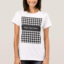 Black & White Houndstooth T-Shirt
