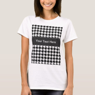 Black & White Houndstooth T-Shirt