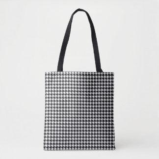 Black/White Houndstooth Tote Bag