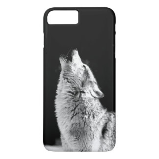 Black & White Howling Wolf iPhone 7 Plus Case