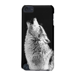 Black & White Howling Wolf iPod Touch 5G Cover