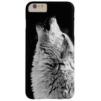 Black White Howling Wolf Night iPhone 6 Plus Case