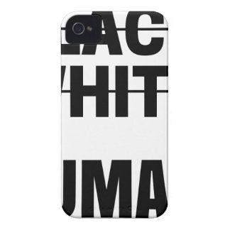 Black white human tee t-shirt tshirt Hoodie mug... Case-Mate iPhone 4 Case