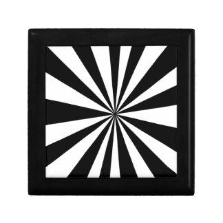 Black White hypnotic Keepsake Box