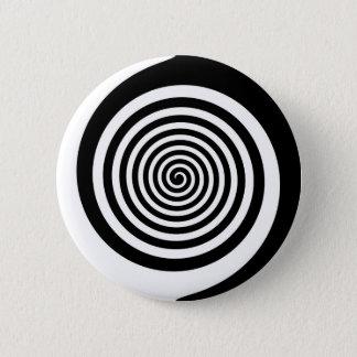 Black & White Hypnotic Spiral Pinback Button