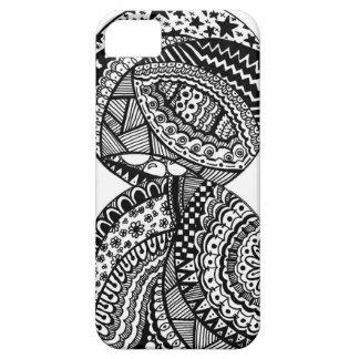 Black & White illustration iPhone Case iPhone 5 Cases
