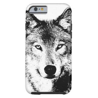 Black White Ink Artwork Wolf Tough iPhone 6 Case
