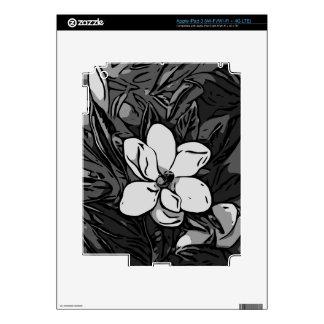 Black&White Ink Flower iPad 3 Decals