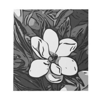 Black&White Ink Flower Notepad