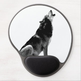 Black White Inspirational Leadership Wolf Gel Mouse Pad