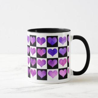Black & White Iolanthe Hearts Mug