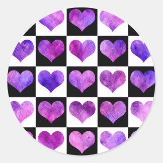 Black & White Iolanthe Hearts Sticker