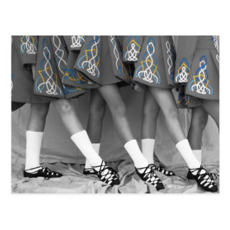 Black & White Irish Dance Postcard