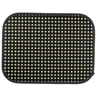 Black White Irregular Dotted Pattern Car Floor Mat