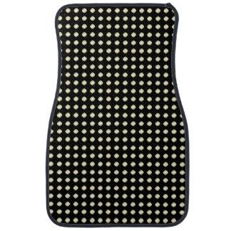 Black White Irregular Dotted Pattern Car Mat