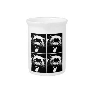 Black & White Jaguar Beverage Pitcher