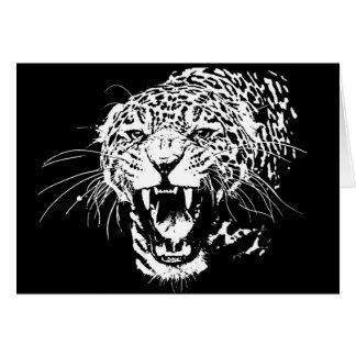 Black & White Jaguar Card