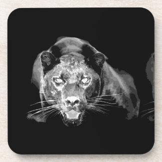 Black & White Jaguar Coaster