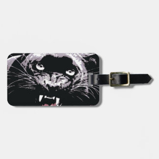 Black & White Jaguar Eyes Bag Tag