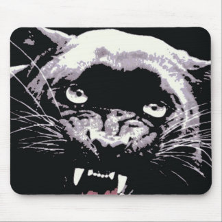 Black & White Jaguar Eyes Mouse Pad