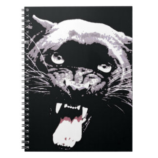 Black & White Jaguar Eyes Notebook