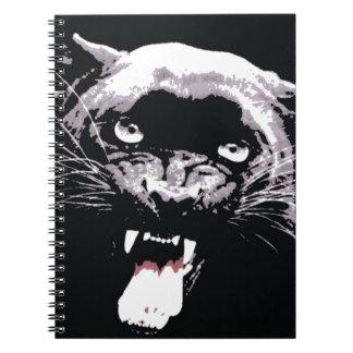 Black & White Jaguar Eyes Notebook