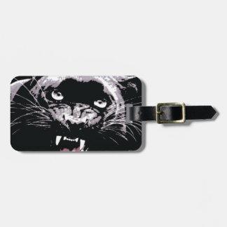 Black & White Jaguar Eyes Tag For Luggage