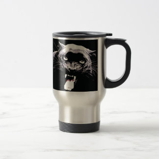 Black & White Jaguar Eyes Travel Mug