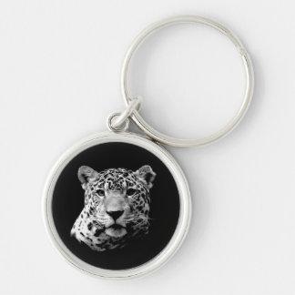 Black & White Jaguar Key Chains