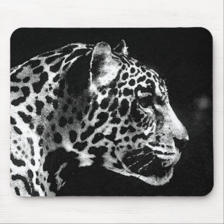 Black & White Jaguar Pop Art Mousepad
