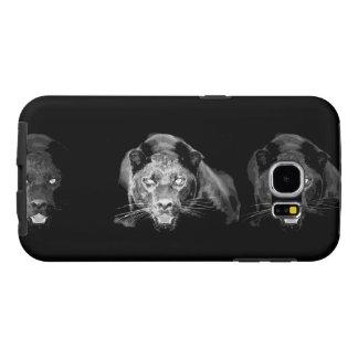 Black & White Jaguar Samsung Galaxy S6 Cases
